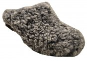 Sheep - Grey sheepskin on a black low (5 cm) base