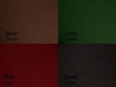 Oil leather in different colours
